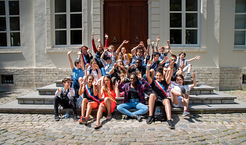 Conseil de la Jeunesse en visite à Woluwe-Saint-Lambert 2019